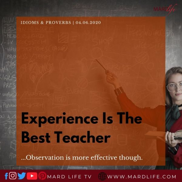 Experience Is The Best Teacher (IDIOMS AND PROVERBS)