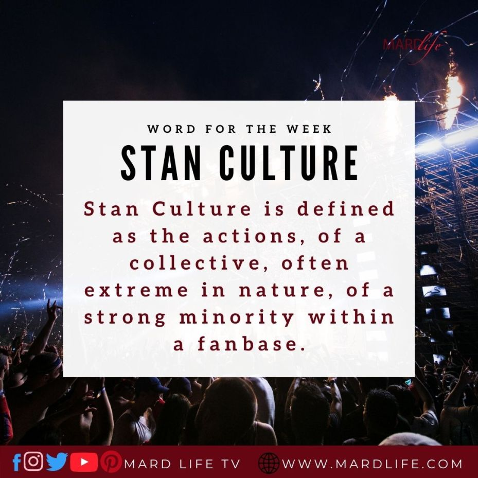 Stan Culture (Word For The Week)