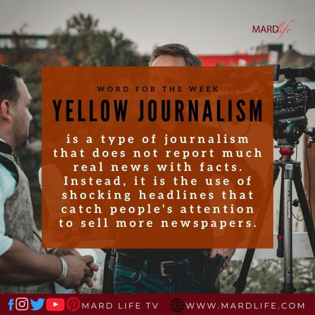 Yellow Journalism (Word For The Week)