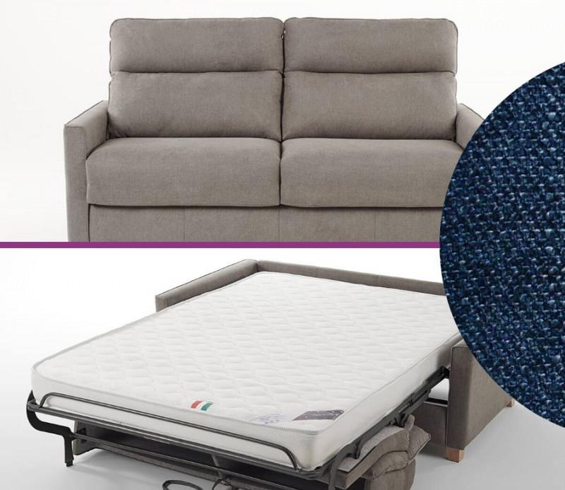 canape lit bogart confort 3 places bleu marine couchage quotidien 140
