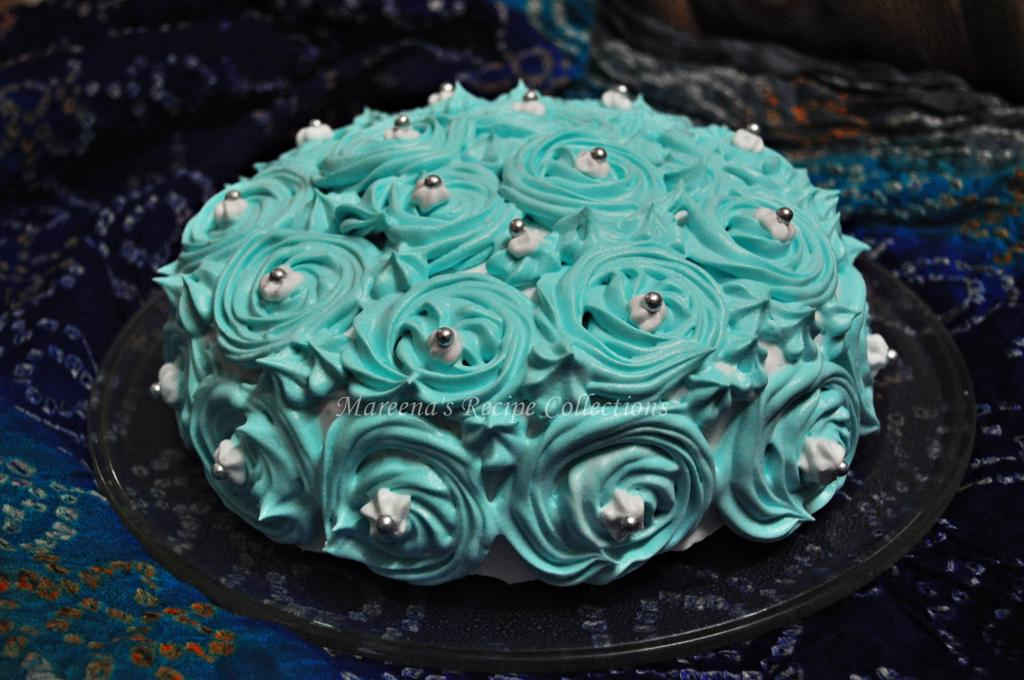 Decorate Cake With Whipped Cream Roses