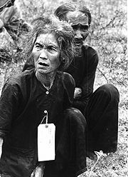 Peasants suspected of being communists under detention of U.S. army, 1966