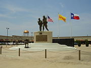 Vietnam War memorial in the new Chinatown in Houston, Texas