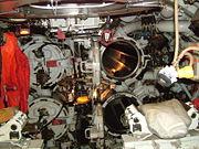 The forward torpedo tubes on HMS Ocelot