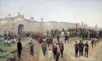 استسلام الأتراك في نيكوپول, نيكولاي دميترييڤ-اورنبورگسكي, 1883