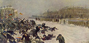 Bloody Sunday massacre in Saint Petersburg.