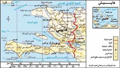 خريطة هايتي