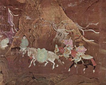 جواد مهدى للامبراطور شوانزونگ, رسم من القرن 12 أثناء أسرة سونگ.