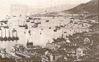 هونگ كونگ في أواخر  القرن التاسع عشر كانت مركزا تجاريا رئيسيا لمنصب الامبراطوريه البريطانية.