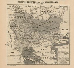 Territorial changes as a result of the First Balkan war, as of April 1913