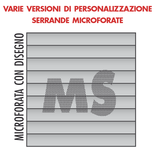Personalizzazione microforatura con disegno marenco serrande