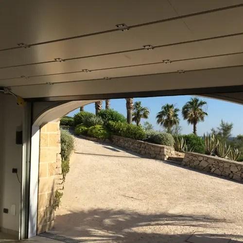 porta sezionale OREGON vista interna