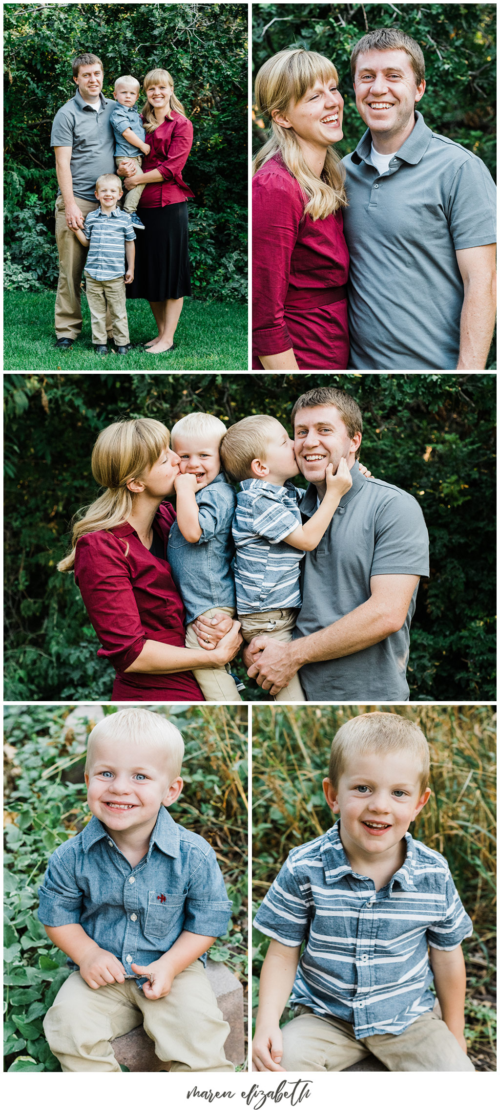 Utah extended family pictures by Maren Elizabeth Photography taken in a neighbor's driveway. Beautiful photo locations can be found anywhere if you get creative. | Arizona Family Photographer
