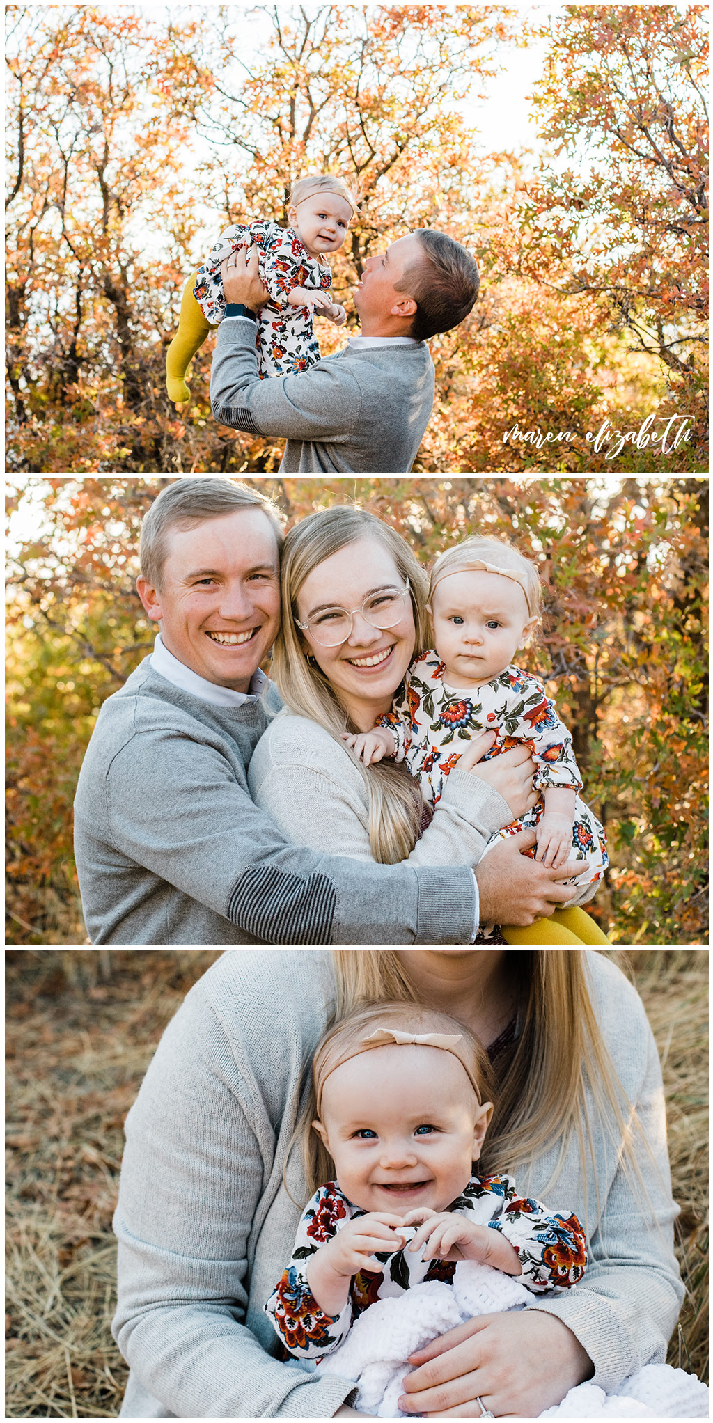 Squaw Peak family pictures in the fall. A 20 minute mini session really is enough time for family pictures, just look at all the great shots! | Arizona Family Photographer | Maren Elizabeth Photography
