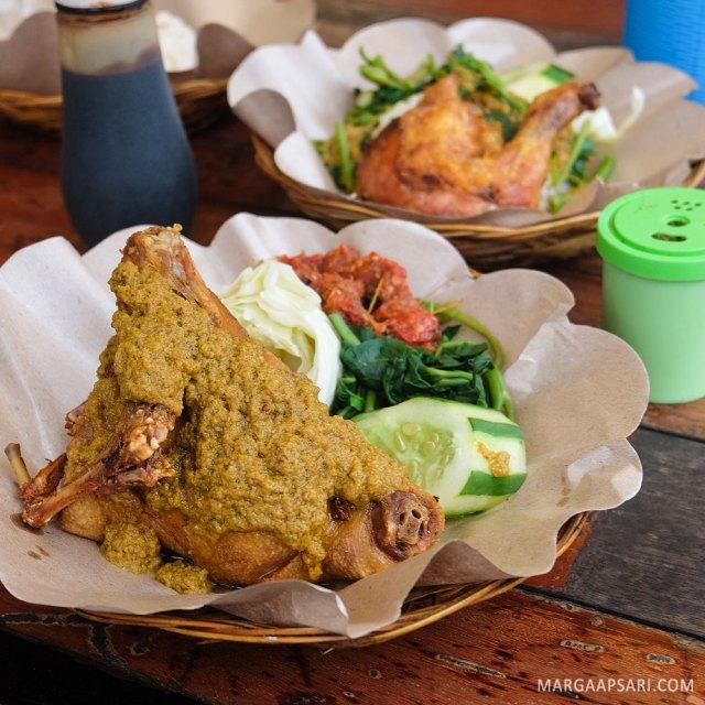 Nasi bebek di Bali rekomendasi driver GOJEK