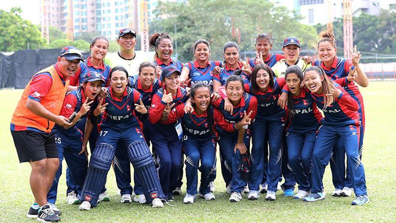 नेपाल 'वुमेन्स टि–२० स्म्यास'को फाइनलमा, इन्डोनेसियामाथि फराकिलो अन्तरकाे जित