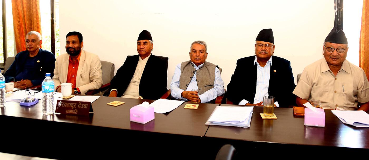 प्रधानमन्त्रीको कदम असंवैधानिक  अधिनायक आकांक्षाबाट प्रेरित हो नेपाली कांग्रेसका सभापति शेरबहादुर देउवा