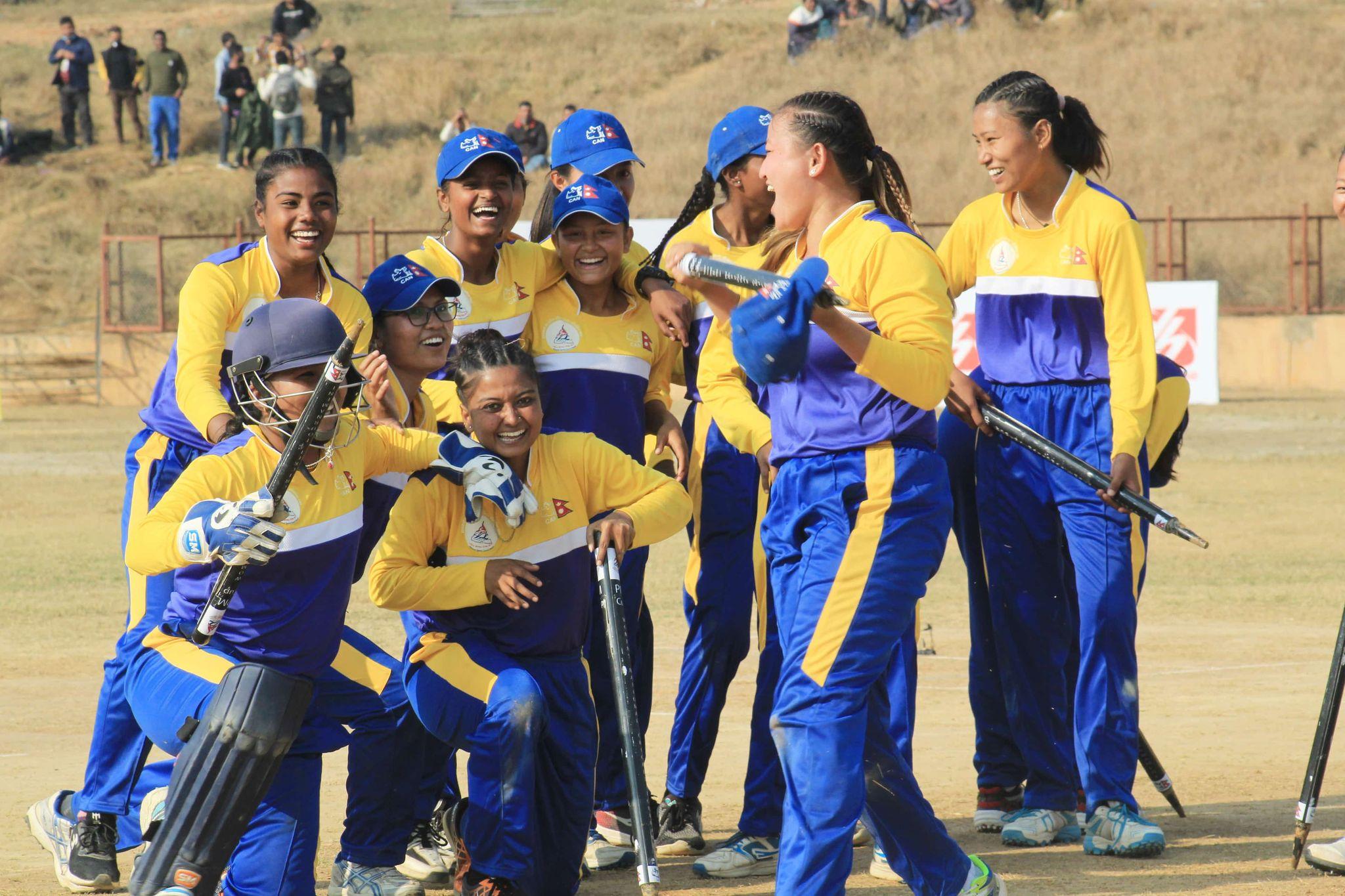प्रदेश १ ले प्रधानमन्त्री कप महिला राष्ट्रिय क्रिकेट प्रतियोगिताको उपाधि जिते