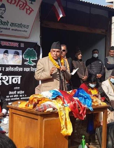 नेपाली कांग्रेसकाे स्पष्ट अडान संसद पुनःस्थापना नै नेपाली कांग्रेसका वरिष्ठ नेता रामचन्द्र पाैडेल