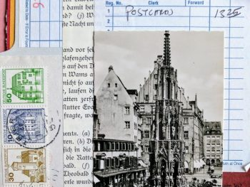 Nurnberg postcard collage
