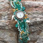 Turquoise Time handmade beaded watch