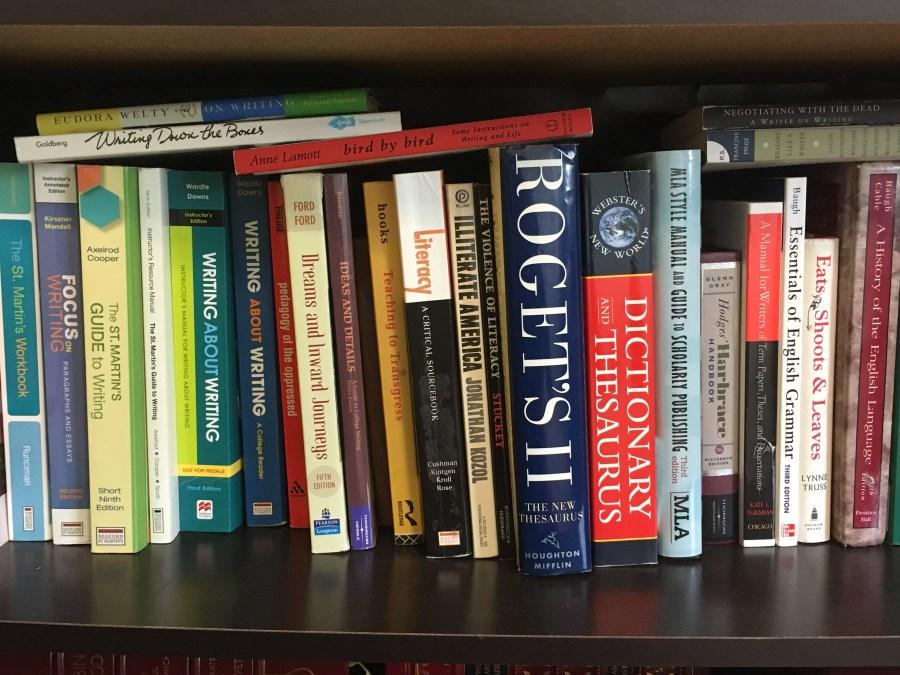 A Bookshelf of Writing Books