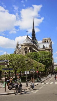 Paris, France, Cathedral, Notre Dame