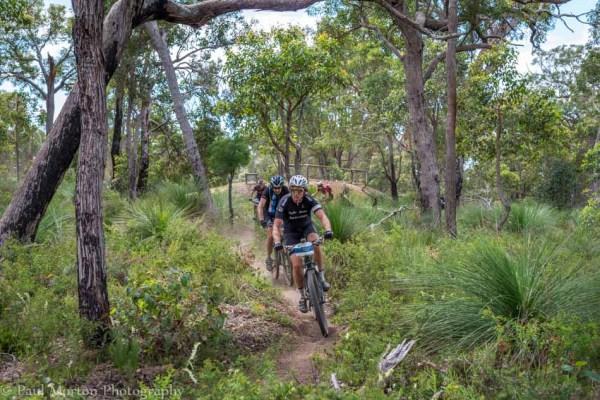 Riders on the Cape to Cape near Dunsborough in Mountain Biking Margaret River