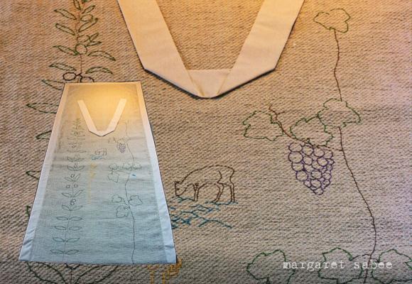 Symbolen van het Nieuw Testament Wade van Margaret Sabee Weefkunst Den Haag