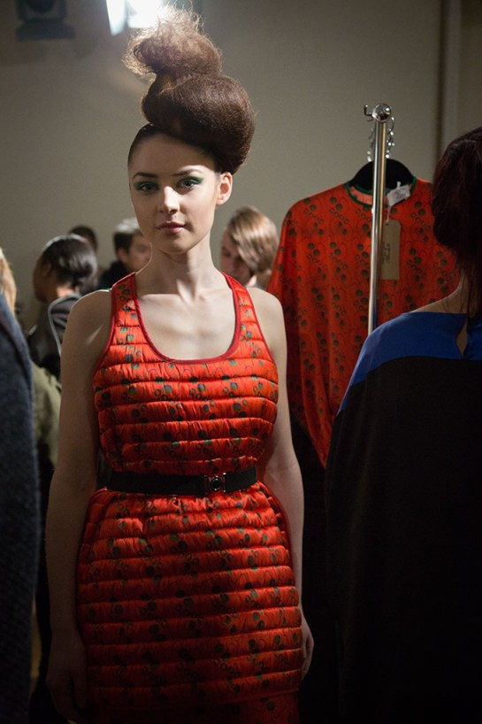 LFW Somerset House - Felicities Fashion Designer Presentation - Designers Collection worn by model