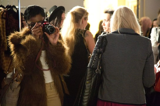 LFW Somerset House - Felicities PR Presents : Fashion Designers - crowd photographers onlookers