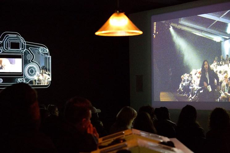 Fashion Designer Marios Schwab LFW catwalk screening at Somerset House London
