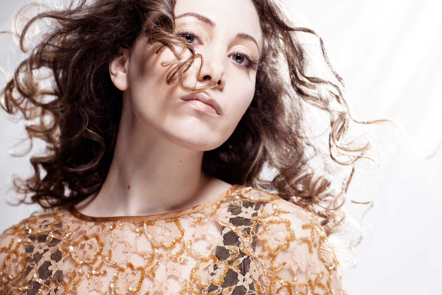 Photo: image by London fashion photographer, studio portrait of musician singer Eleni by British Fashion Photographer Margaret Yescombe