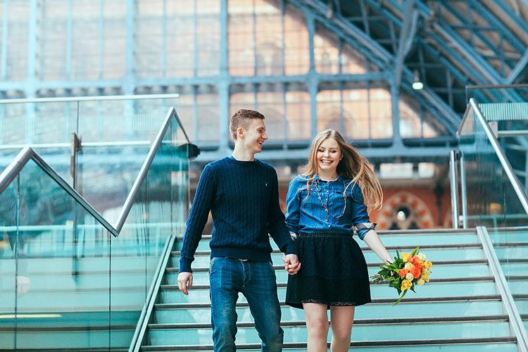 Boris Sima Couples Shoot At Kings Cross St Pancras Station London Margarita Karenko
