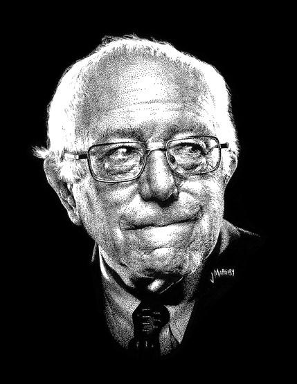 """Bernie"" 9""x12"" Pen on Paper"