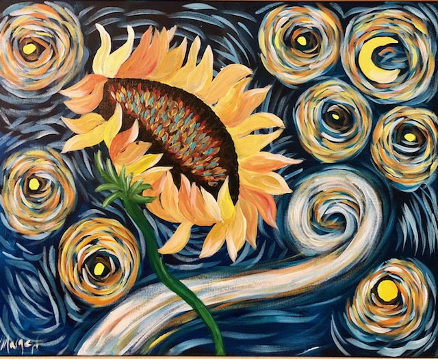 Van Gogh Sunflower - Level 3