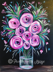 Spring Roses - Painting with Marge