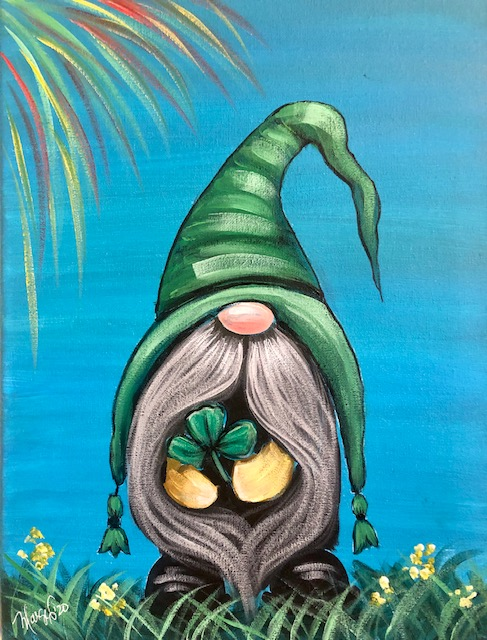 St. Patty's Gnome - Copyright Painting with Marge