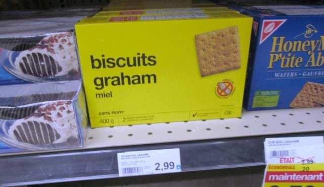 Les seuls biscuits sucrés que j'ai trouvé avec une étoile sont ces biscuits graham Sans Nom (1 étoile).