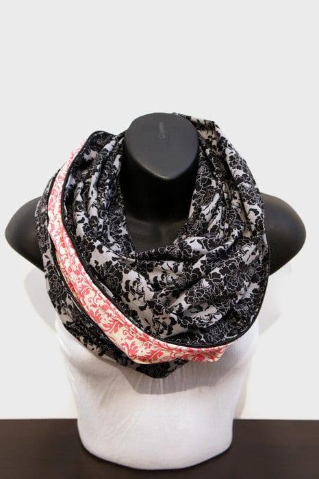 Avec la fermeture éclair, ce foulard infini gagne plein de qualité! (Crédit photo: FolArtist sur Etsy)