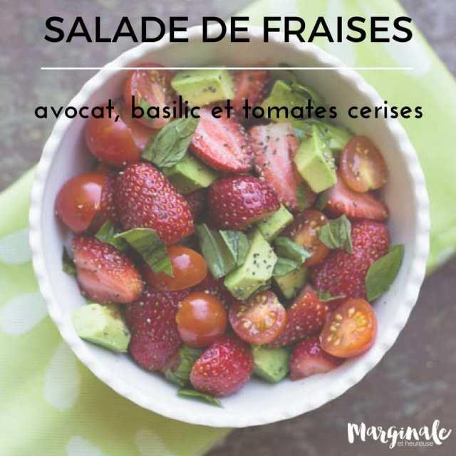 Salade de fraises pinterest