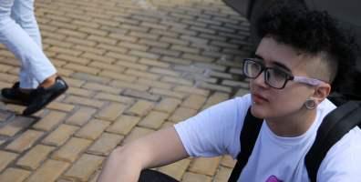 Деян. Международен ден за борба с хомофобията и трансфобията. София, 2014 г. Снимка: Светла Енчева. Лиценз: CC-BY-ND