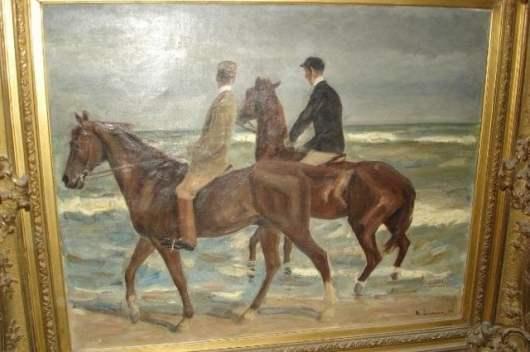 Двама ездачи на плажа, Макс Либерман, 1901 г.