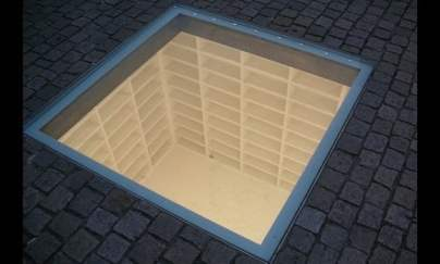 Мемориал на изгорените книги, Берлин.