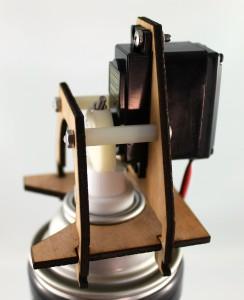 spray nozzle laser cut birch prototype beaty