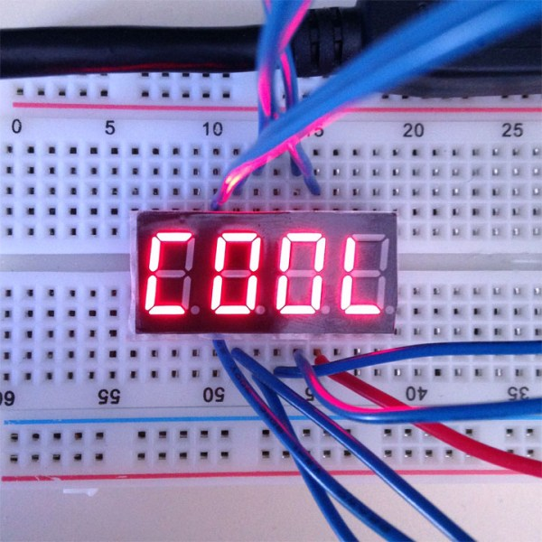 7 segment four digit display