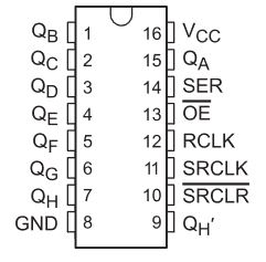 How to use a 74hc595 shift register