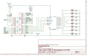 shift register kicad schematic layout