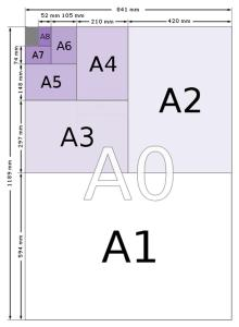 paper sizes