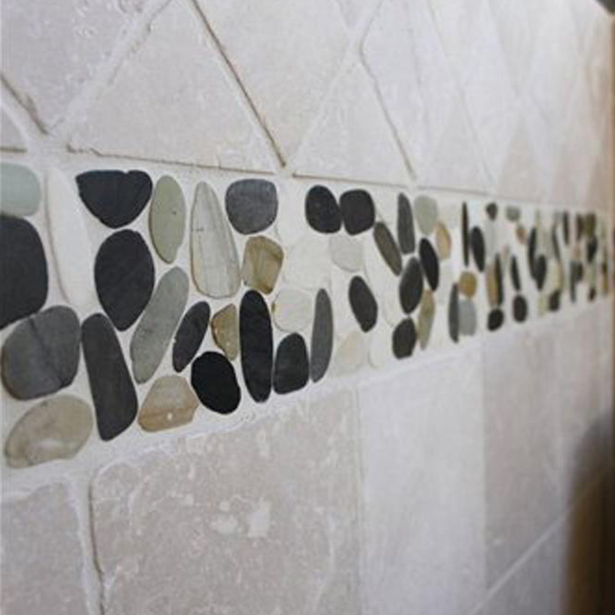 buy white grey and dark grey sliced pebble tile margo garden products